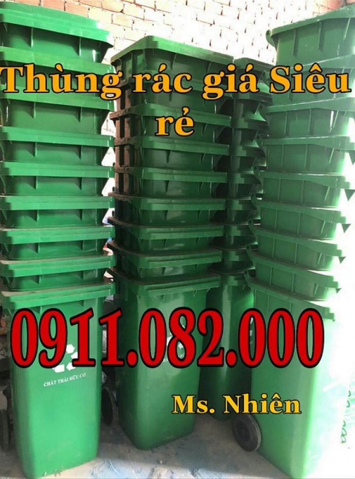 Thanh lý thùng rác 120 lít 240 lít giá rẻ tại hậu giang- lh 0911.082.0001