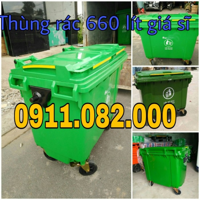 Thanh lý thùng rác 120 lít 240 lít giá rẻ tại hậu giang- lh 0911.082.0002