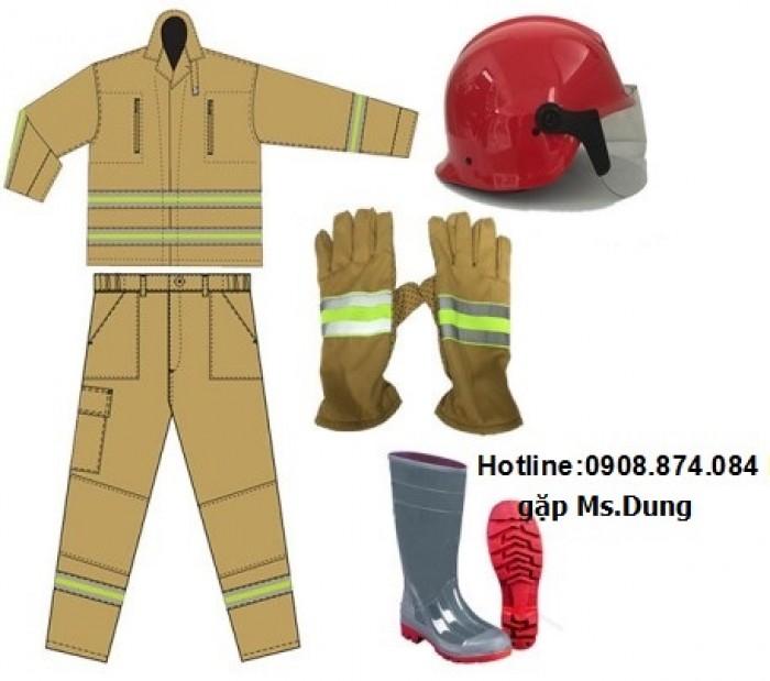 Quần áo chống cháy lính cứu hỏa 0