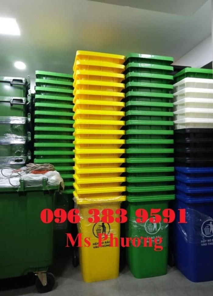 Thùng rác công nghiệp-thùng rác 120L-240L giá rẻ3