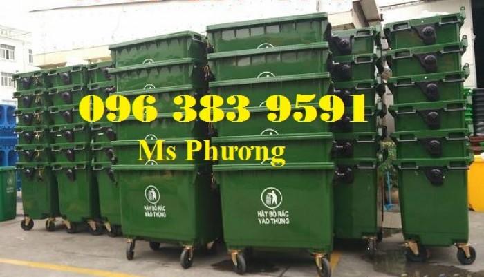 Thùng rác công nghiệp-thùng rác 120L-240L giá rẻ4