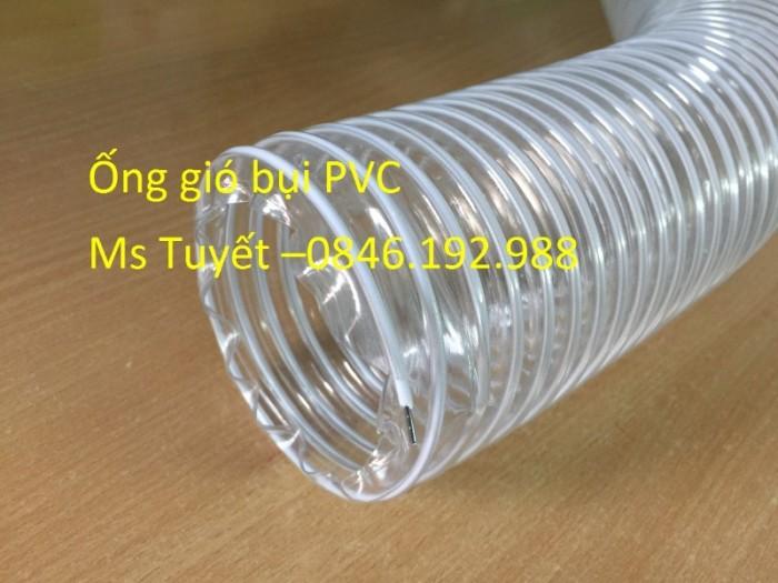 Ống gió bụi PVC trắng trong có lõi thép1