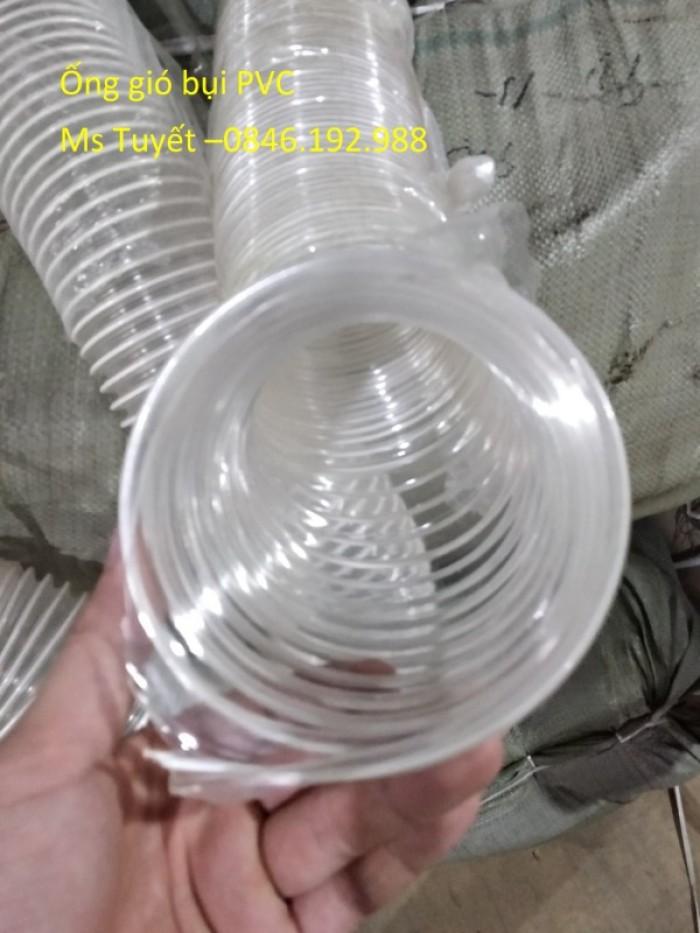 Ống gió bụi PVC trắng trong có lõi thép6