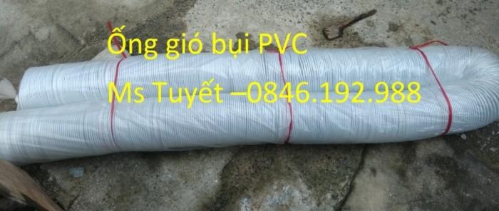 Ống gió bụi PVC trắng trong có lõi thép0