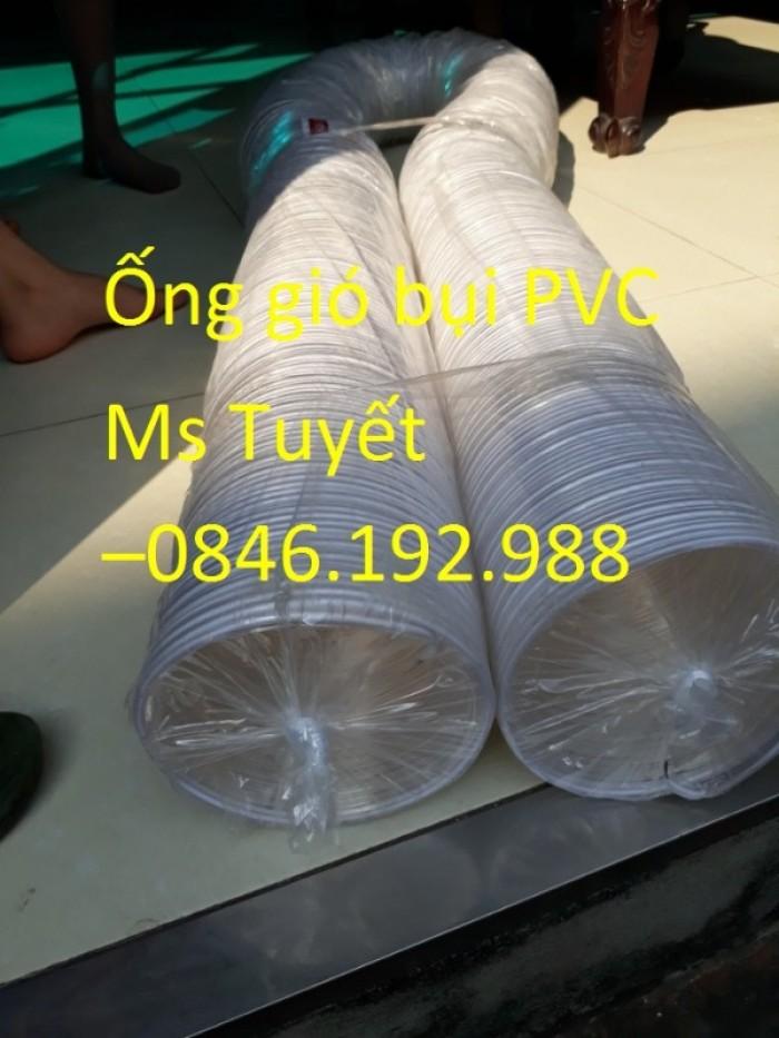 Ống gió bụi PVC trắng trong có lõi thép9