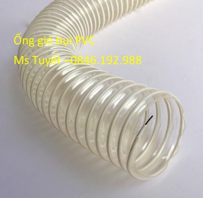 Ống gió bụi PVC trắng trong có lõi thép3