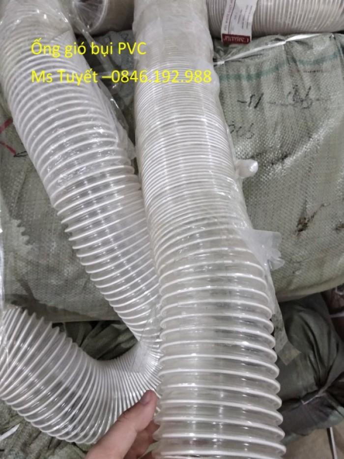 Ống gió bụi PVC trắng trong có lõi thép7