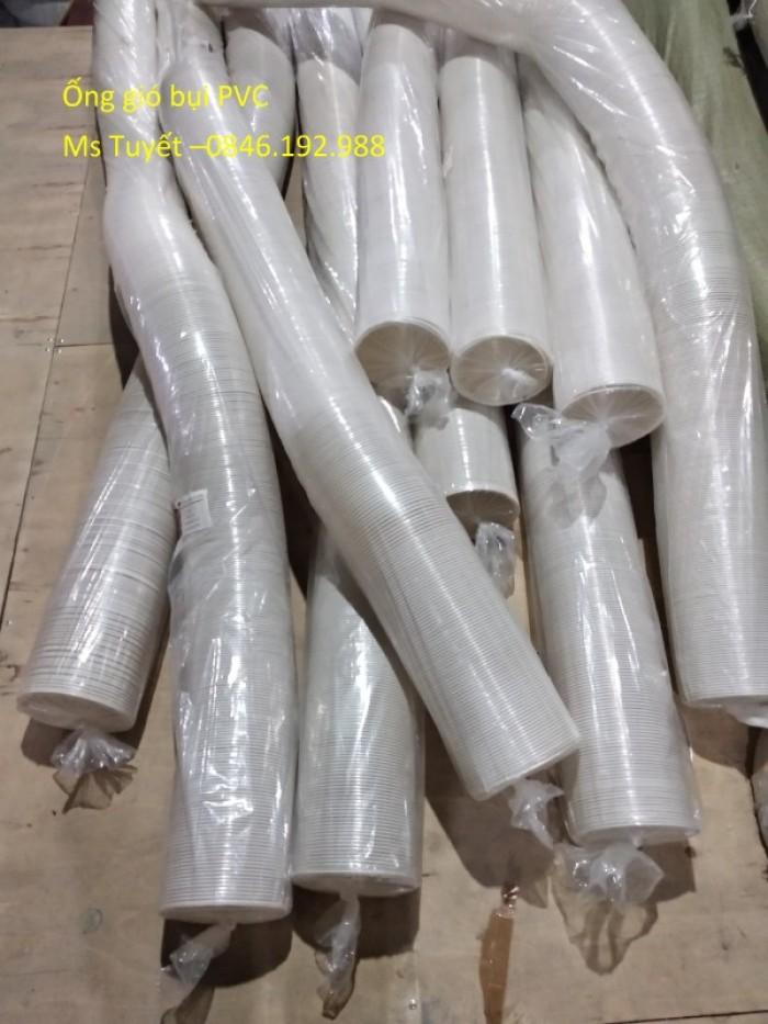 Ống gió bụi PVC trắng trong có lõi thép10