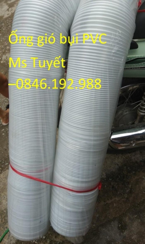 Ống gió bụi PVC trắng trong có lõi thép11