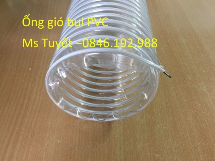 Ống gió bụi PVC trắng trong có lõi thép2