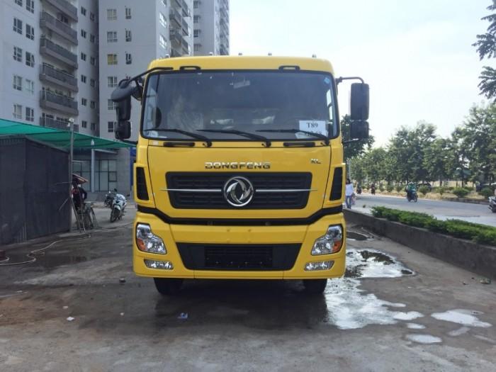 Xe tải Dong feng 4 chân ISL315, Động cơ Cummins, Thùng mui bạt 9,5m Nhập khẩu Nguyên chiếc2