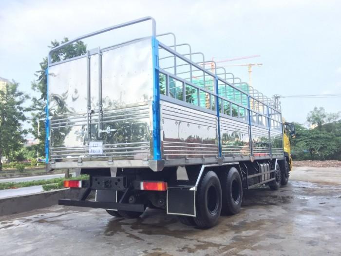 Xe tải Dong feng 4 chân ISL315, Động cơ Cummins, Thùng mui bạt 9,5m Nhập khẩu Nguyên chiếc3