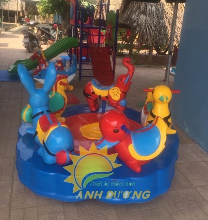 Đồ chơi đu quay trẻ em cho trường mầm non, công viên, sân chơi8