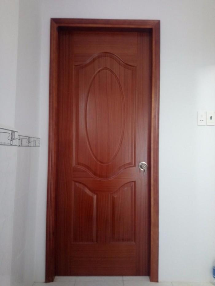 Cửa gổ công nghiệp, cửa hdf veneer, cửa phòng ngủ tại Bình Thạnh1