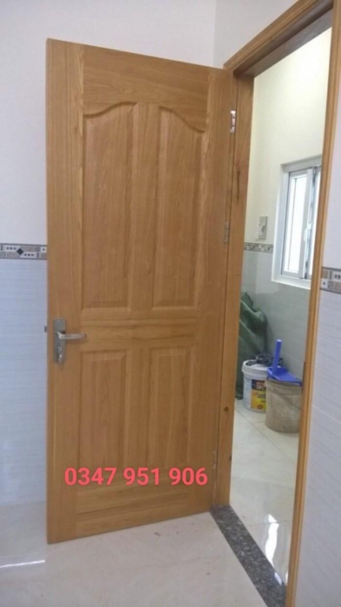Cửa gổ công nghiệp, cửa hdf veneer, cửa phòng ngủ tại Bình Thạnh2