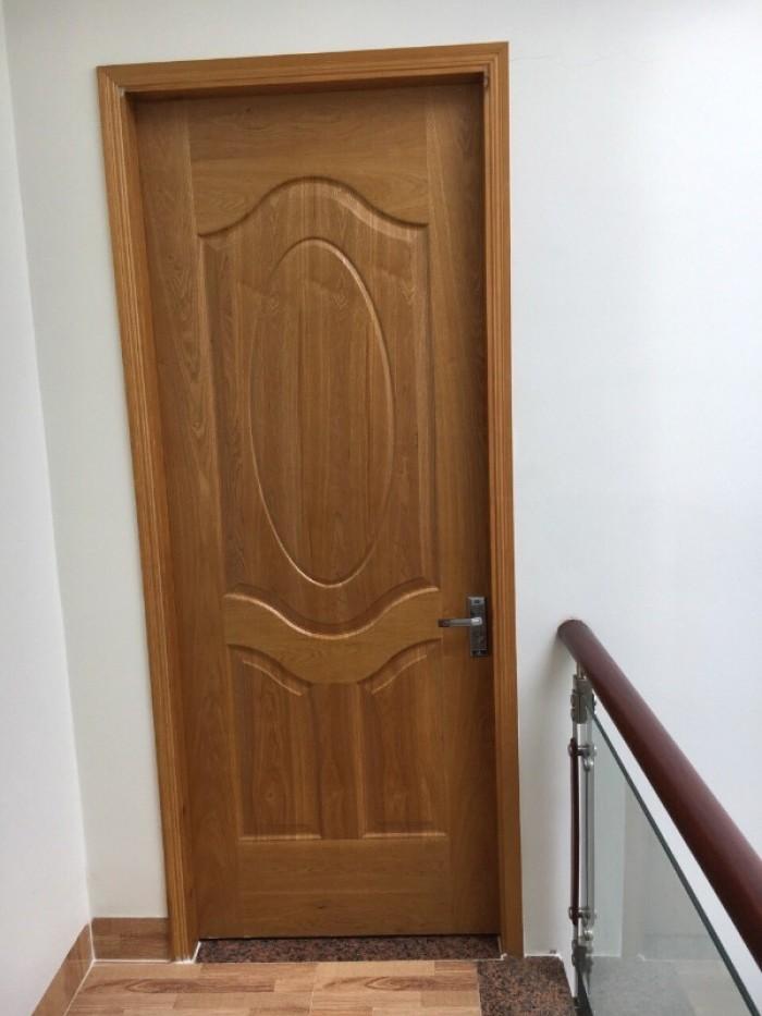 Cửa gổ công nghiệp, cửa hdf veneer, cửa phòng ngủ tại Bình Thạnh3