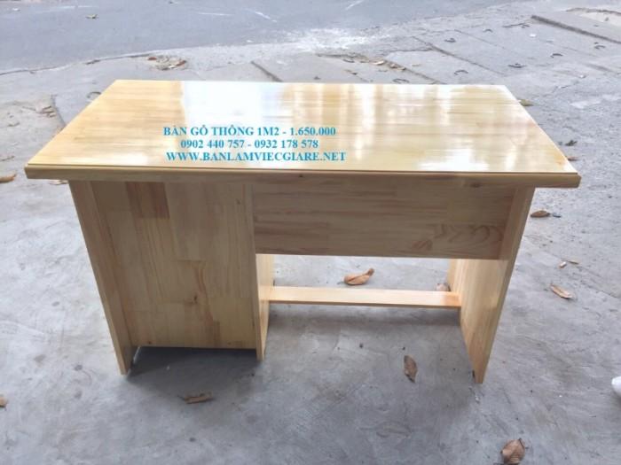 Bàn làm việc gỗ thông 1m2*60 - bao vận chuyển0