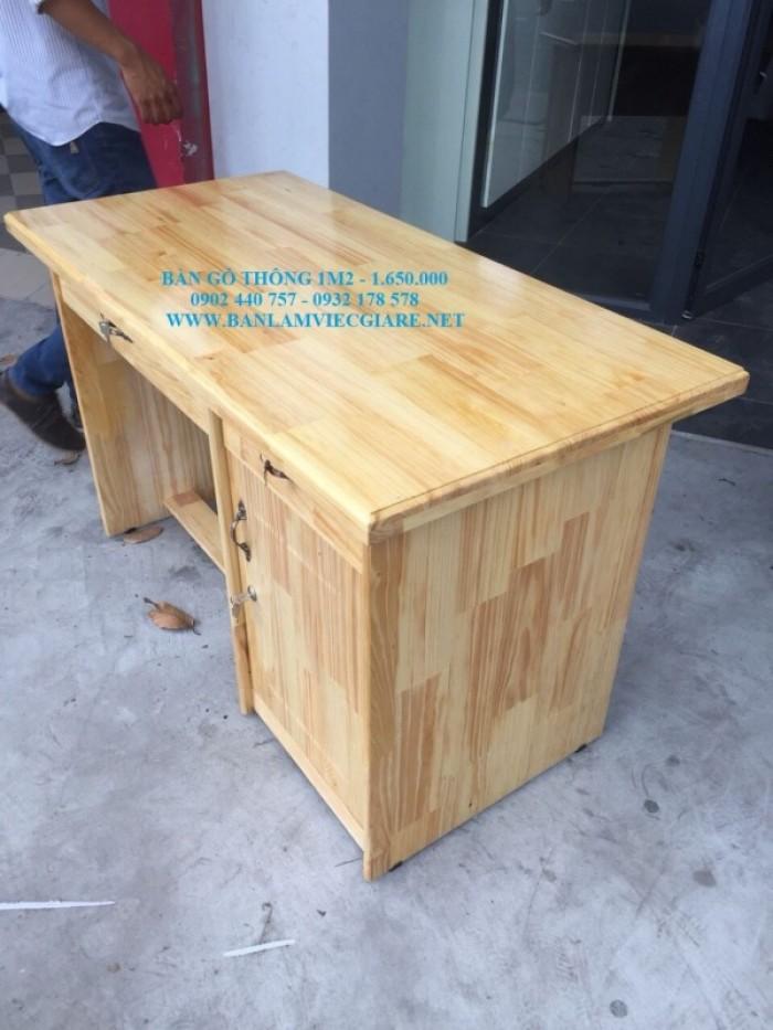 Bàn làm việc gỗ thông 1m2*60 - bao vận chuyển4