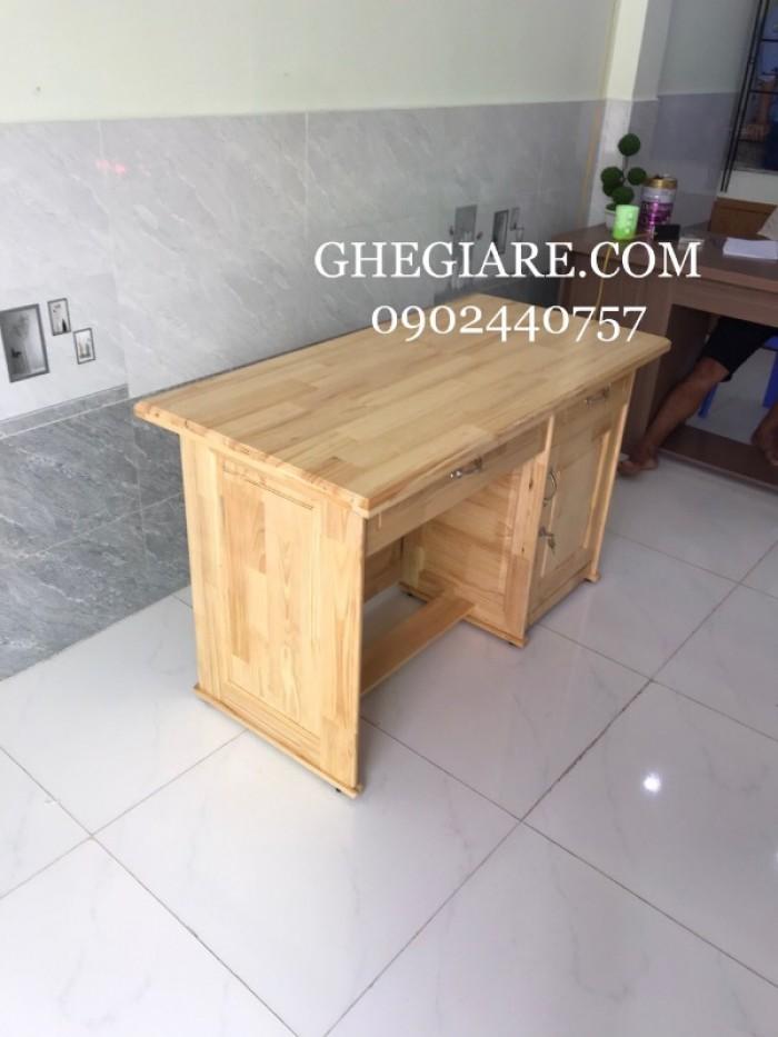 Bàn làm việc gỗ thông 1m2*60 - bao vận chuyển2