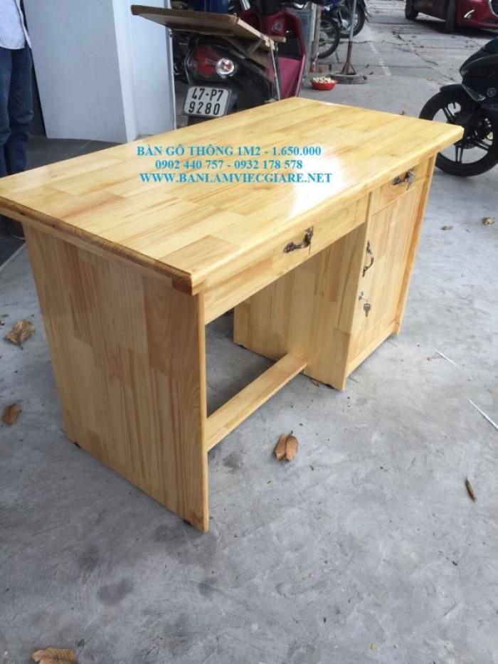 Bàn làm việc gỗ thông 1m2*60 - bao vận chuyển5
