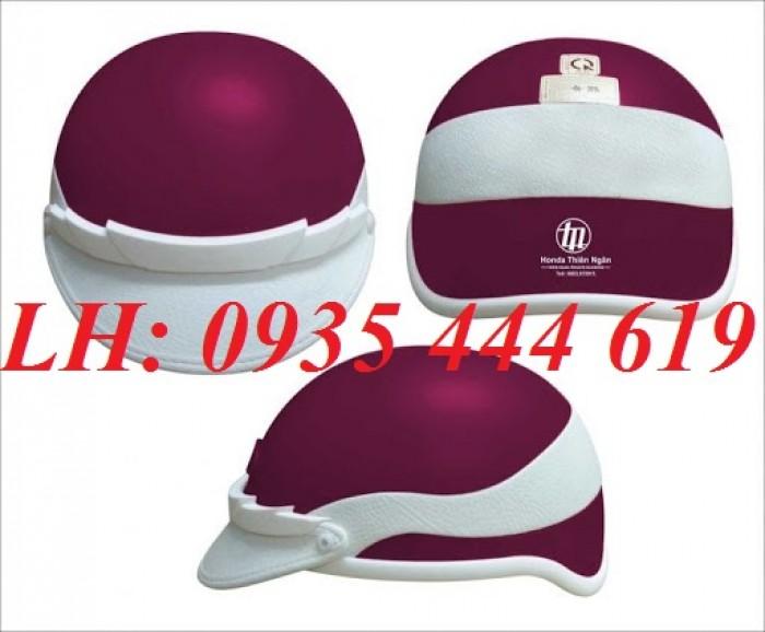 Mũ bảo hiểm in logo theo yêu cầu, mũ bảo hiểm in logo quảng cáo tại Huế2