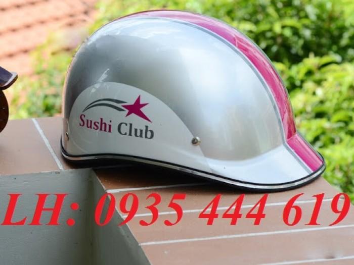 Mũ bảo hiểm in logo theo yêu cầu, mũ bảo hiểm in logo quảng cáo tại Huế1