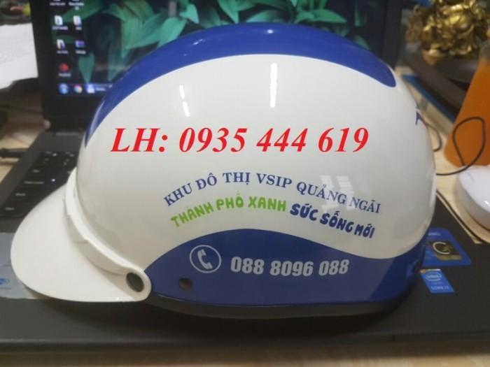 Mũ bảo hiểm in logo theo yêu cầu, mũ bảo hiểm in logo quảng cáo tại Huế6
