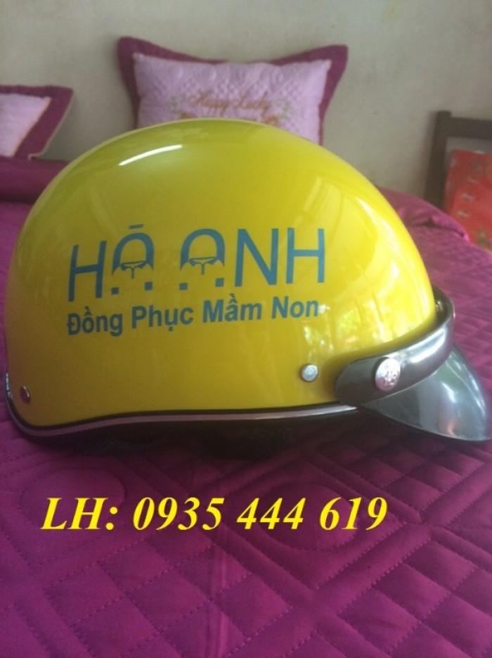 Mũ bảo hiểm in logo theo yêu cầu, mũ bảo hiểm in logo quảng cáo tại Huế9