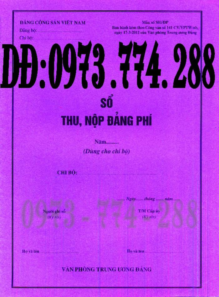 Mẫu sổ thu, chi tài chính của tổ chức đảng cơ sở và cấp trên cơ sở (Mẫu số S01/TCĐ)2