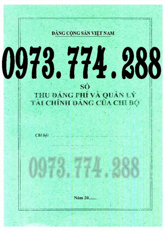 Mẫu sổ thu, chi tài chính của tổ chức đảng cơ sở và cấp trên cơ sở (Mẫu số S01/TCĐ)5