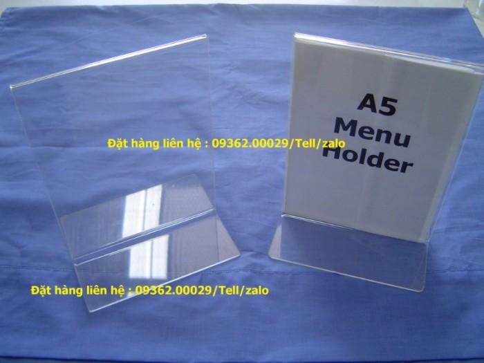 Kệ menu để bàn, kệ đựng tờ rơi, tài liệu để bàn1
