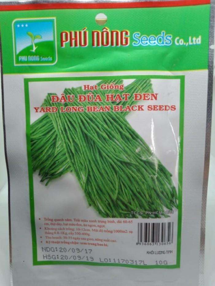 Hạt giống đậu đũa hạt đen Phú Nông1