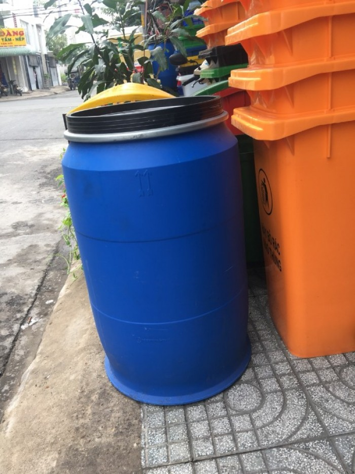 Phuy nhựa 220 lít chứa nước sinh hoạt giá rẻ0