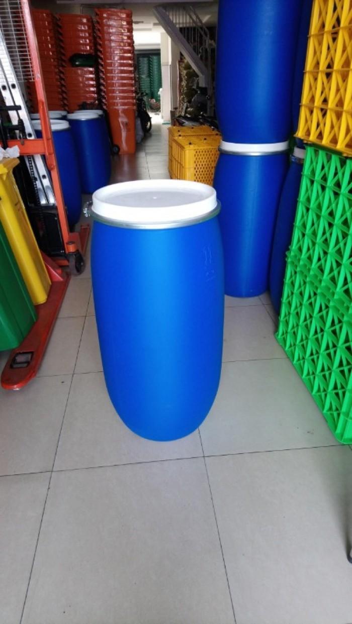 Phuy nhựa 220 lít chứa nước sinh hoạt giá rẻ1