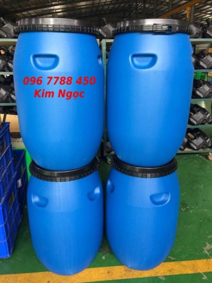 Phuy nhựa 220 lít chứa nước sinh hoạt giá rẻ2