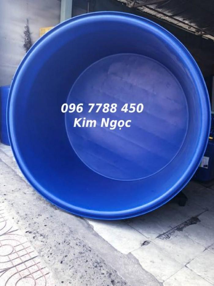 Bồn nhựa tròn nuôi cá 1500 lít giá rẻ0