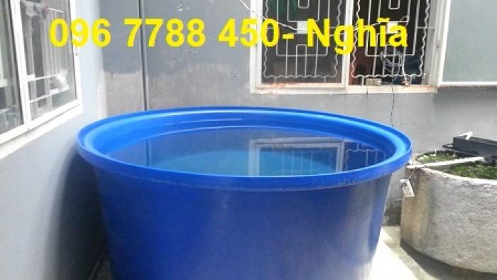 Bồn nhựa tròn nuôi cá 1500 lít giá rẻ2