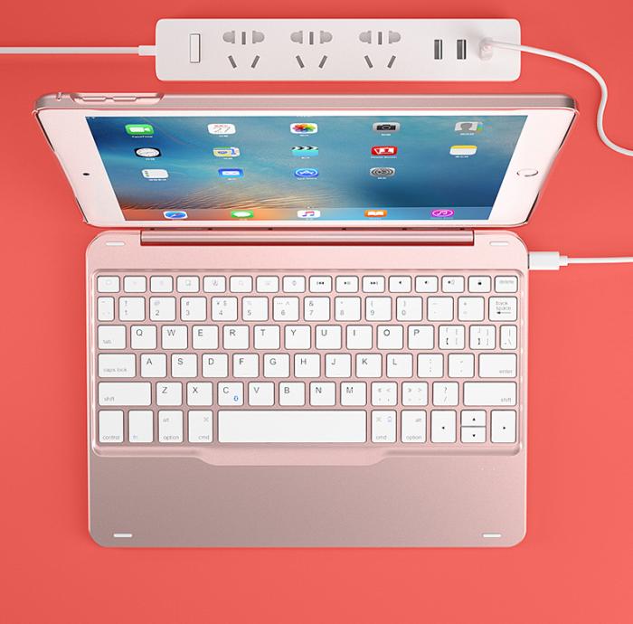 Bàn phím Bluetooth kiêm ốp cao cấp cho ipad 9.7 ipad new mẫu đẹp sang trọng3
