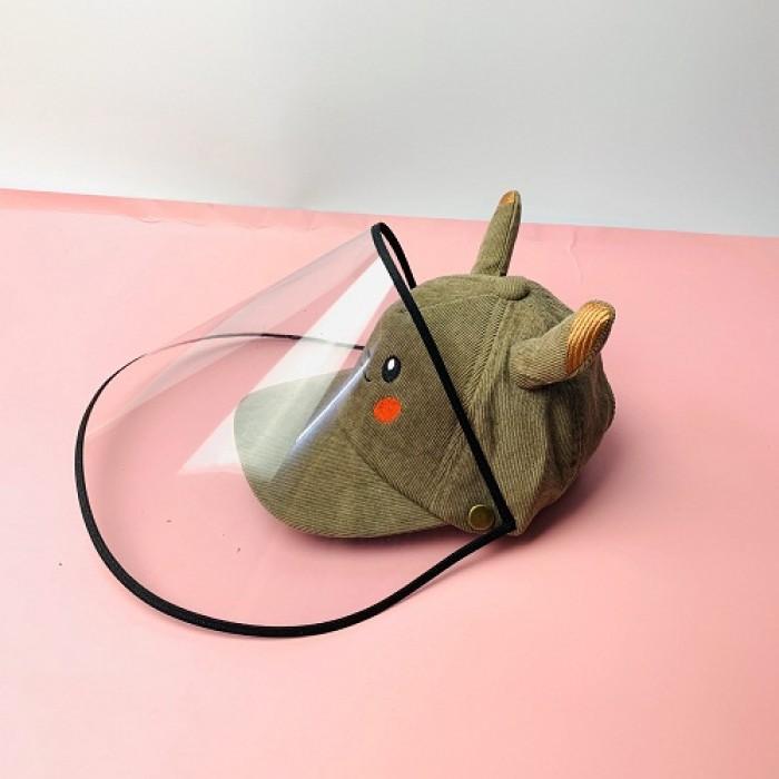 Nón kháng khuẩn- nón bảo hộ - nón chống dịch có màng che kín mặt style Hàn Quốc -0908 555 6562
