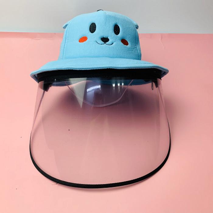 Nón kháng khuẩn- nón bảo hộ - nón chống dịch có màng che kín mặt style Hàn Quốc -0908 555 6564