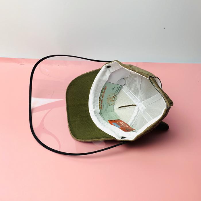 Nón kháng khuẩn- nón bảo hộ - nón chống dịch có màng che kín mặt style Hàn Quốc -0908 555 6567