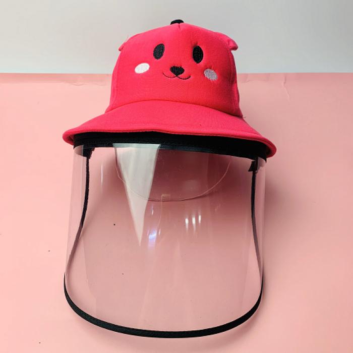 Nón kháng khuẩn- nón bảo hộ - nón chống dịch có màng che kín mặt style Hàn Quốc -0908 555 6565