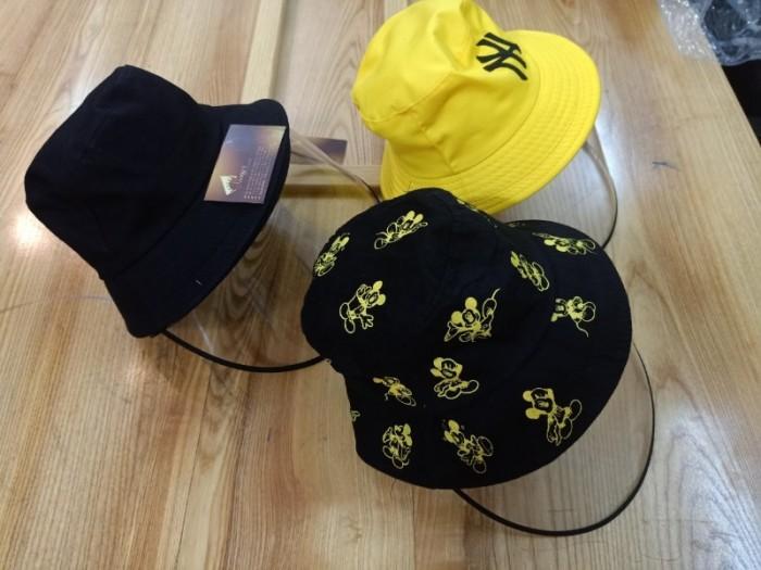 Nón kháng khuẩn- nón bảo hộ - nón chống dịch có màng che kín mặt style Hàn Quốc -0908 555 65612