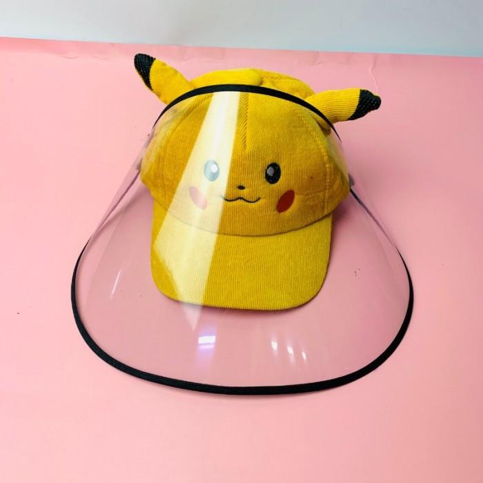 Nón kháng khuẩn- nón bảo hộ - nón chống dịch có màng che kín mặt style Hàn Quốc -0908 555 65616