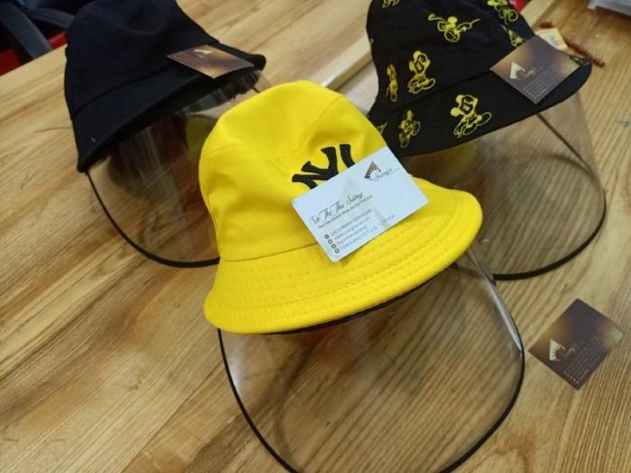 Nón kháng khuẩn- nón bảo hộ - nón chống dịch có màng che kín mặt style Hàn Quốc -0908 555 65617
