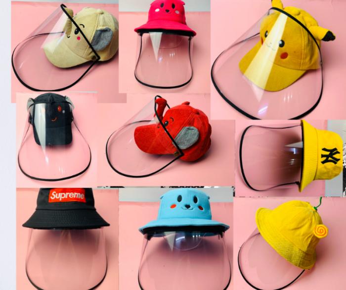 Nón kháng khuẩn- nón bảo hộ - nón chống dịch có màng che kín mặt style Hàn Quốc -0908 555 65614