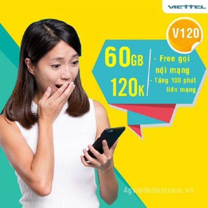 Sim Viettel V120-free 60GB THÁNG-Miễn phí sử dụng THÁNG ĐẦU5
