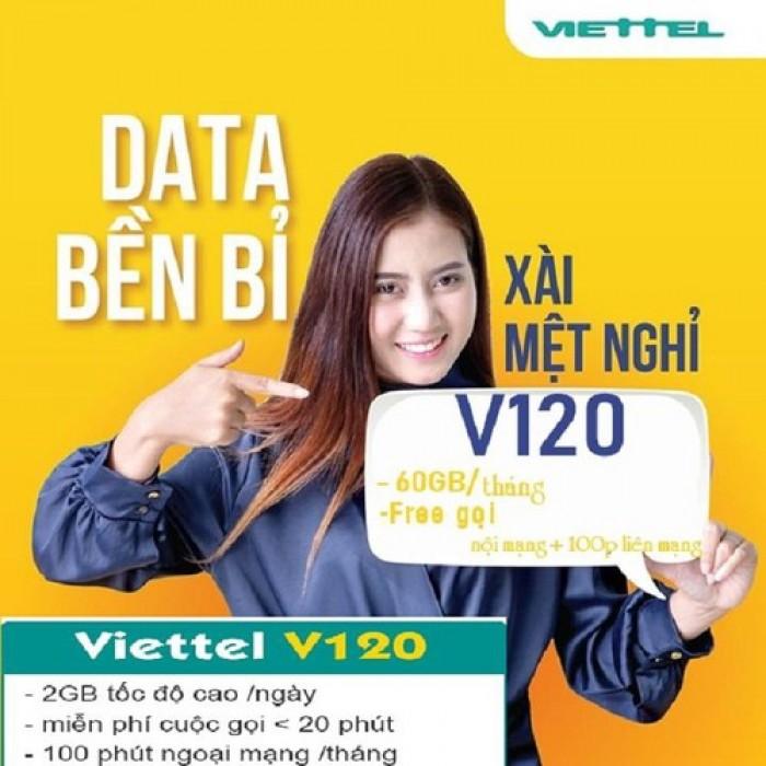 Sim Viettel V120-free 60GB THÁNG-Miễn phí sử dụng THÁNG ĐẦU4