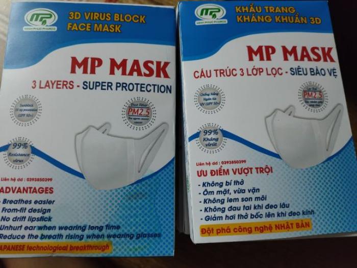 Khẩu trang kháng khuẩn 3D MP MASK Công Nghệ Nhật Bản 10 cái1