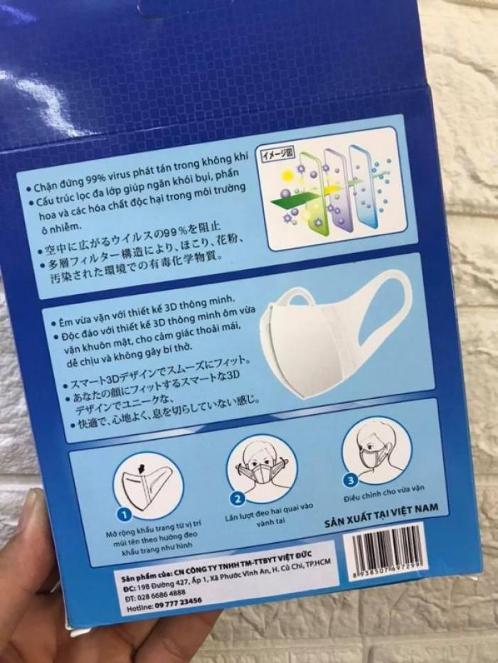 Khẩu trang 3D kháng khuẩn 4U MASK Công Nghệ Nhật Bản (hộp 10 cái)3